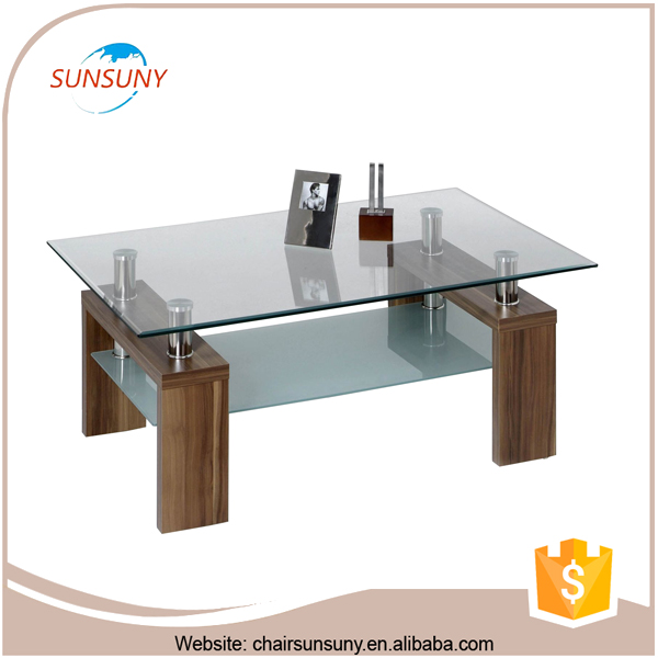 2016 latest design best selling modern glass table coffee
