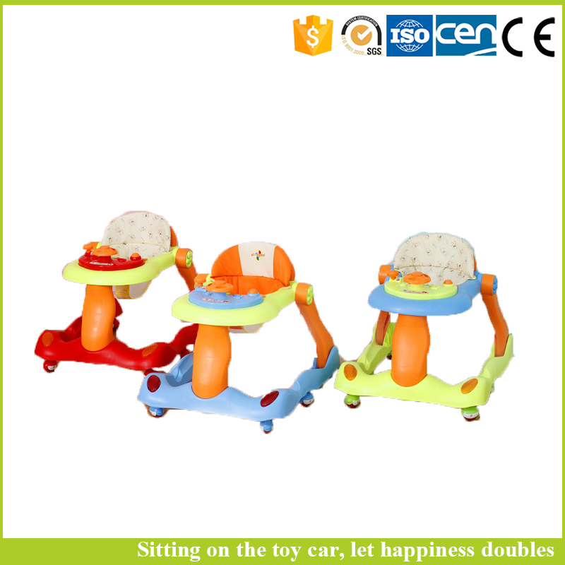 2016 new products made in china round base 4 in 1 inflatable baby walker