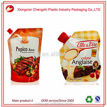 OPP/CPP laminated material flask pouches juice spout pouch