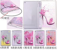 High-heeled shoes design quicksand case cover for iPad Mini 4