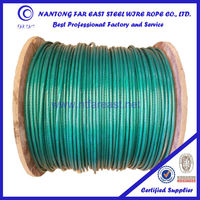 6*19 pvc coated steel wire rope, special rope, galvanized steel wire rope