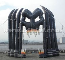 Latest Horror Skull Inflatable Halloween Arch,Giant Hollween Inflatables Hot Sale K4067