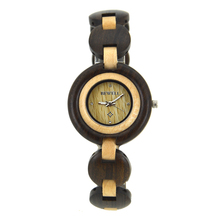 Vogue Lady Wrist Watches Bamboo Wood Watch for Christmas Gift