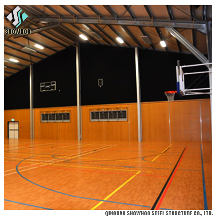 Large Space Steel Frame Building Prefabricated Steel Structure Sports Hall