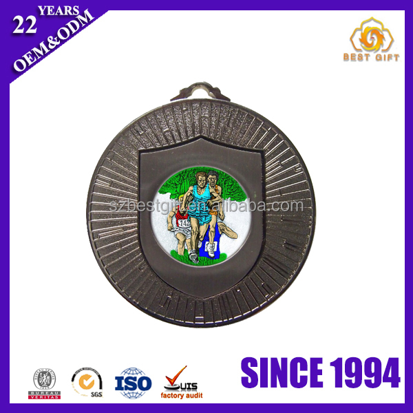 Mini Running Sports Sterling Metal Iron Blank Medal