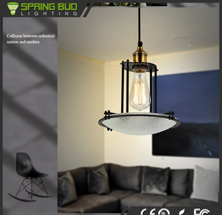 2016 new products iron Material and Contemporary Vintage pendant lighting Type bar pendant lamp