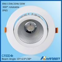 Comfortable recessed 230v CRI>80 90 20w led ceiling lamps for distribution