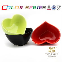 alibaba Wholesale porcelain ramekin heart ramekin bowl heart shaped salad bowl snack bowl