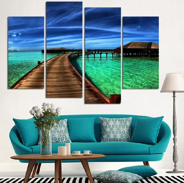 China Custom Cheap Wall Art Printed Painting Canvas Print With Wood Frames