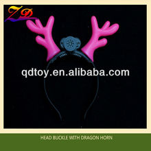 LED flash head buckle with dragon horn