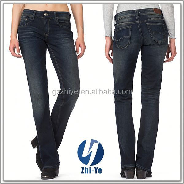China OEM factory wholesale ladies stretch jeans