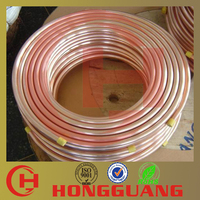 High purity seamless pure copper pipe with ASTM B88