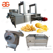 Factory Price Automatic Sweet Potato Chips Frying Line Surgeler Finger Chips Making Machine Frozen French Fries Production