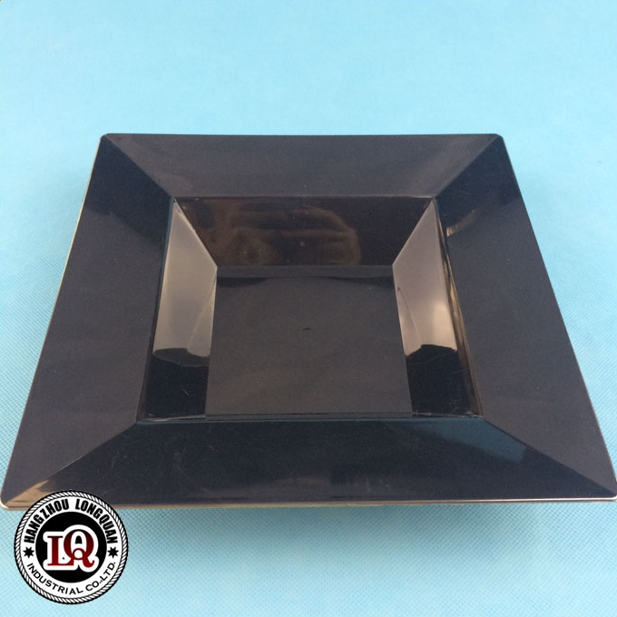 Disposable black plastic dish made in China