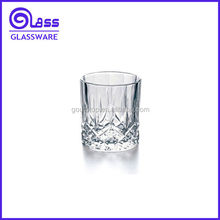 Clear glass patterned juice glass water cup drinking tumbler New design glass cup