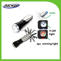 Gift 10in 1 Multi emergency led torch led flashlight with tools