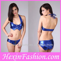 Blue Latex Hot Fashion Sexy Clubwear