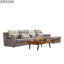 modern l shaped upholstery fabric cover sofa designs and L corner sofa sets for living room furniture