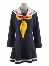 No Game No Life Cosplay Shiro Women's Dress School Uniforms Sailor Suits dress Costume