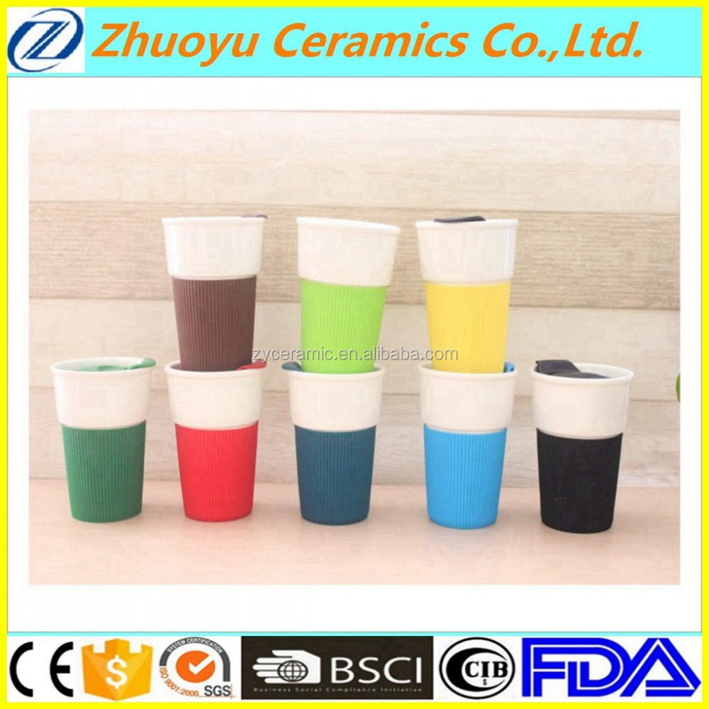 8 oz Ceramic Coffee mug with Silicone case
