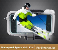 stylish design waterproof sport case for iphone 5&5s with action camera ,guangzhou mobile phone accessories