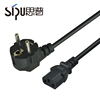 SIPU high speed 6ft European Standard wholesale IEC C13 EU plug Power Cord best fuse Power electric cable price
