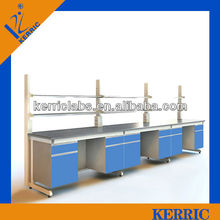 all steel laboratory wall work bench for chemical physics