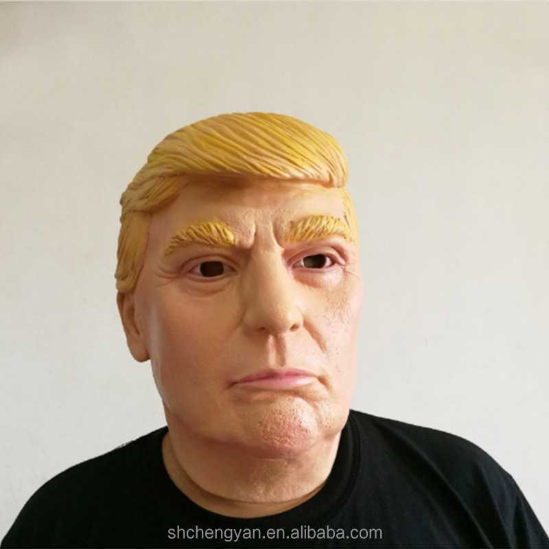 Latex Adult Halloween Mask Realistic Donald Trump Mask Masquerade Party Prop Rubber Trump Mask