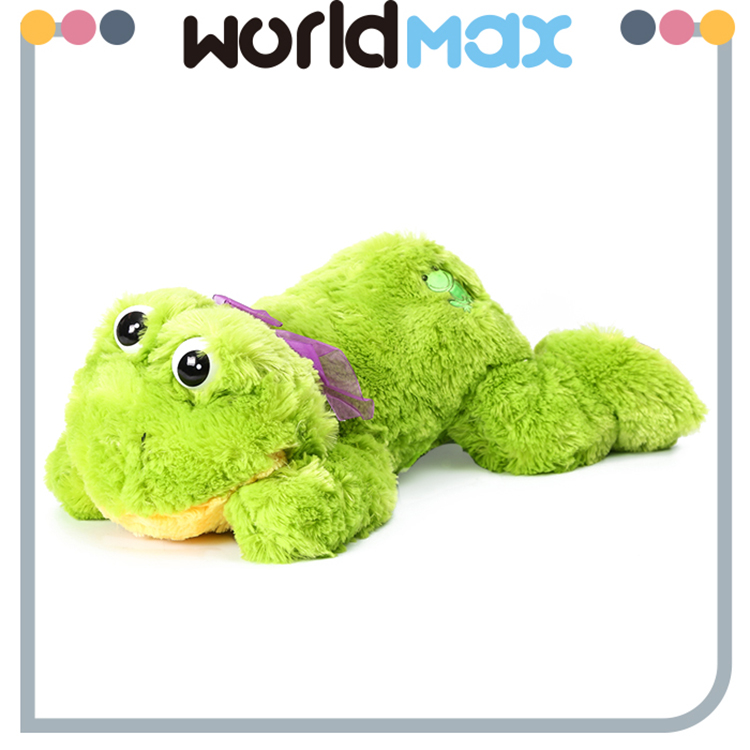 New Arrival Soft Cartoon Plush Toy Lying Frog For Baby