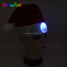 Flashing Christmas cap novelty hat with led light badge