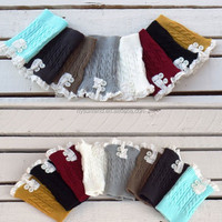 W-08 New wholesale customized knitted women lace boot cuffs