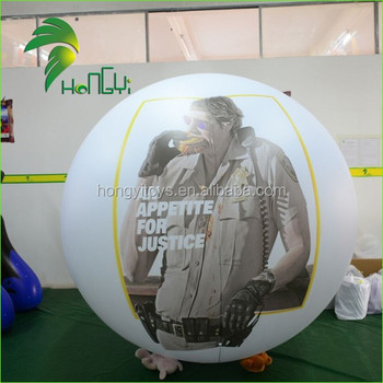 Giant Inflatable Helium Parade Balloons / LED Lighting Up Sphere Ball / Advertising Balloons for Ourdoor Events