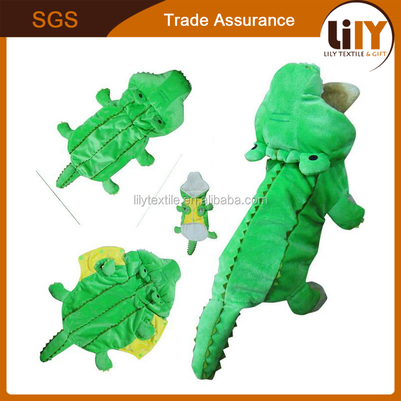 green crocodile design dog apparel pet products for wholesale