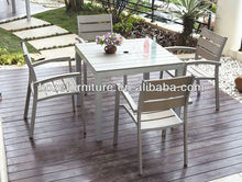 Four people dining set outdoor gatherings/Polywood dining set patio furniture