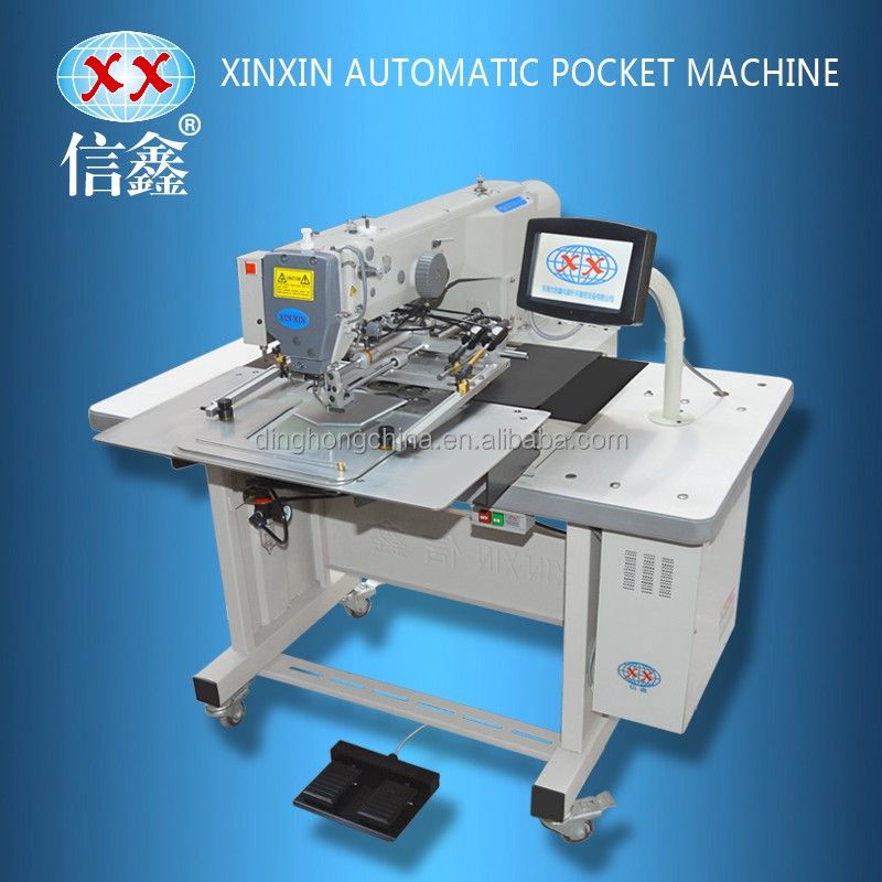 Automatic Pocket Patch Attachment Sewing Machine For Jeans Blouse T Cool Sewing Machine For Patches