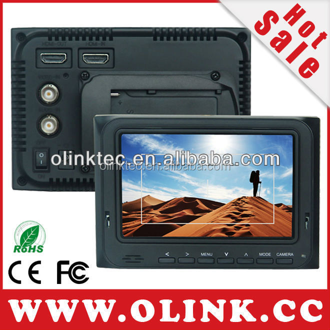 Olink 5 inch On Camera LCD Monitor with HDMI Input and output, AV, Full <strong>1080p</strong>