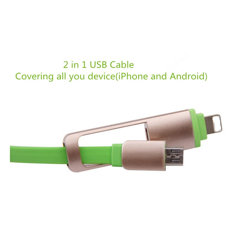 Sync Data cable Micro USB /8 pin 2 in 1 USB Data Cable