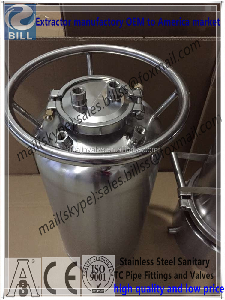 Hot Sales Stainless Steel Sanitary Solvent Tank with Customs cap lid