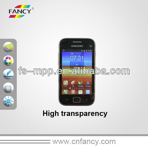 High transparent LCD mirror screen guard for galaxy