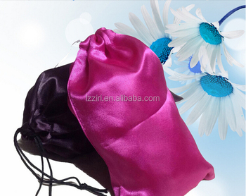 High End Purple Fabric Satin Hair Extension Bags