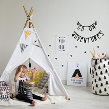 Alibaba China Supplier High Quality Indoor Outdoor Canvas Play Tents Children Kids Play Indian Teepee Tent