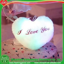 Heart shape light up LED pillow