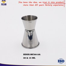 Promotion Stainless Steel Jigger, Stainless Steel Jigger /Peg Measure, 15/30ml Stainless Steel Measuring Cup