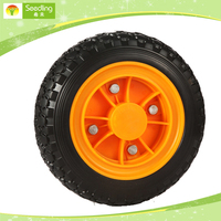 plastic wheels 10 inch wheel, 8 inch 12 inch rubber tire plastic wheelbarrow wheels