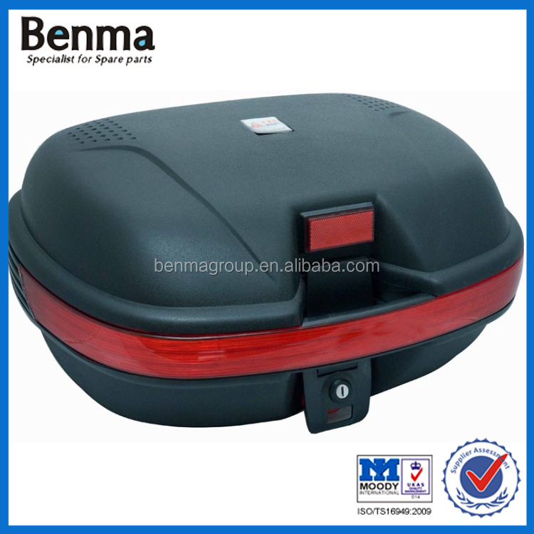 Large volume motorcycle back/rear box in black