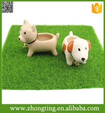 Modern Home decorative cheap mini ceramic indoor dog animal planter