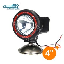 Round ABS plastic black red 35W 55W 70W xenon hid driving light floodlight offroad light