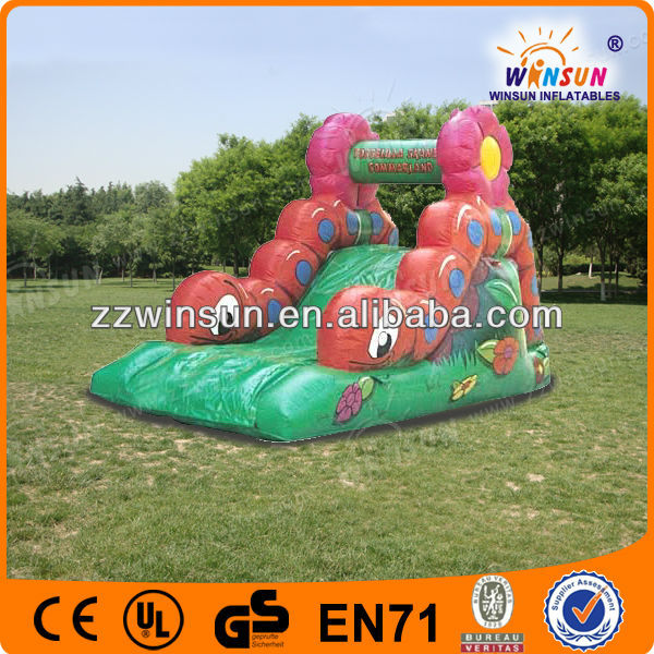 0.55mm PVC small insect attractions water slide,giant inflatable slide for adults the edge