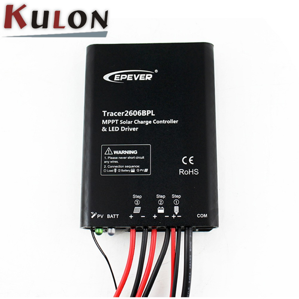 Built-in led driver waterproof 12V / 24V DC 10A Solar MPPT <strong>charge</strong> <strong>controller</strong>