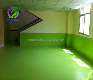 Alibaba China Safe Environmentally Friendly Vinyl Indoor Flooring for Kindergarten